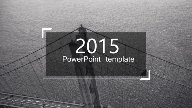 钢铁跨海大桥PPT模板